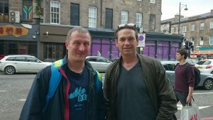When Dougray Scott asked to have a photo taken with me . . . . . I couldn't really say no ;-)